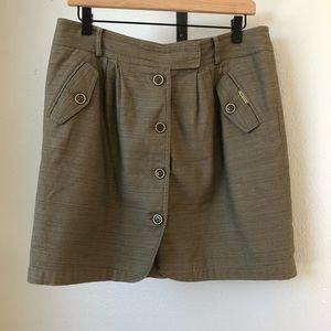 Anne Klein Casual Button Up Skirt - Size 8